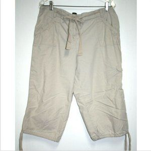 New York & Co Womens 16 Beige Capris Clam Diggers